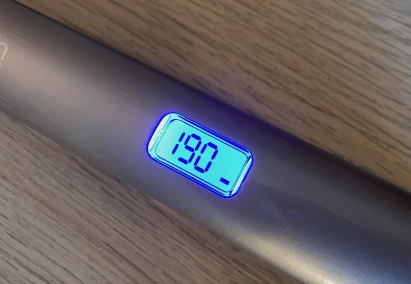 L'écran LCD du lisseur remington