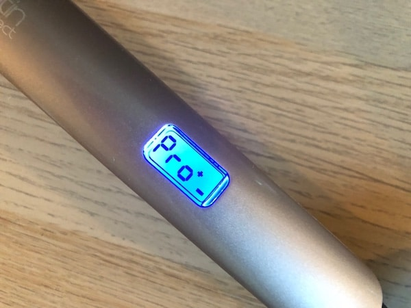 Ce lisseur dispose d'un mode pro à 185°C